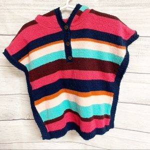 2/$10 💙 NWOT Carter's 3T Striped Hooded Poncho